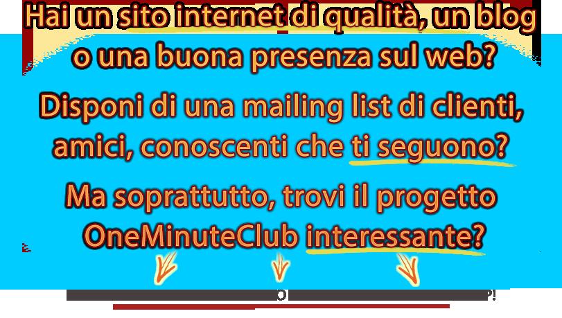 Affiliazione One Minute Club